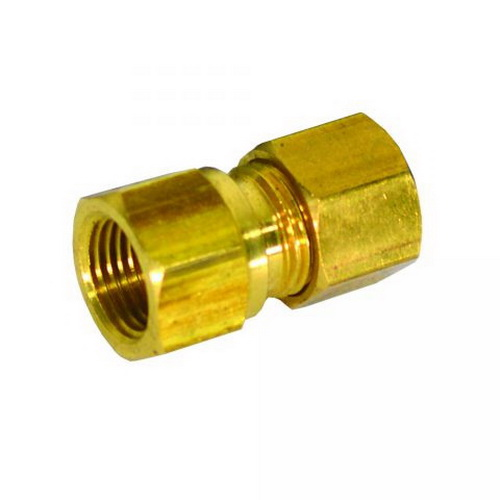 Brass Connector, 3/8 in x 1/2 in, Compression x FIP