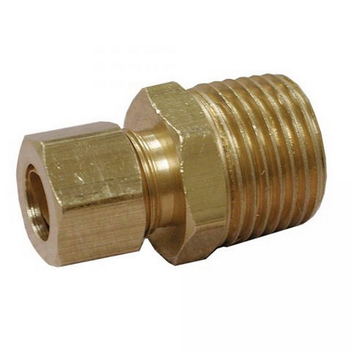 Brass Connector, 3/8 in x 1/4 in, Compression x MIP