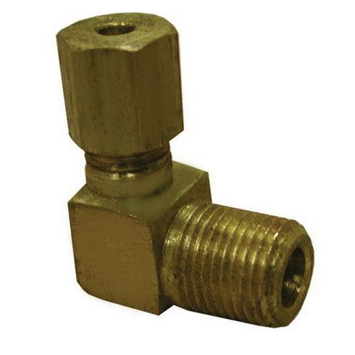 Brass 90 deg Elbow, 1/4 in, Compression x MIP
