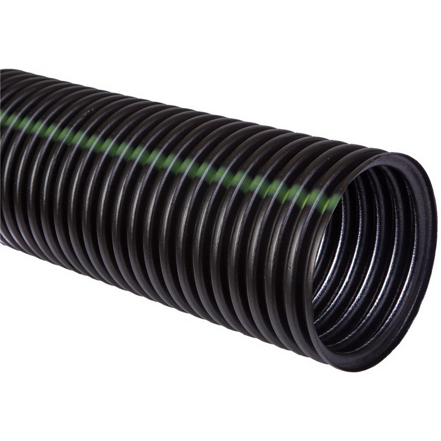 Black Polyethylene Dual Wall Perforated Corrugated Pipe, 8 in x 20 ft, Plain End