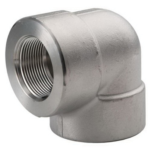 316 Stainless Steel Class 3000 90 deg Elbow, 1-1/4 in, FNPT, Import