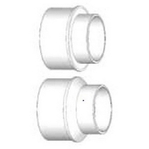 PVC Injection Molded Solvent Sewer DWV Adapter Bushing, 6 in, Spigot x Hub