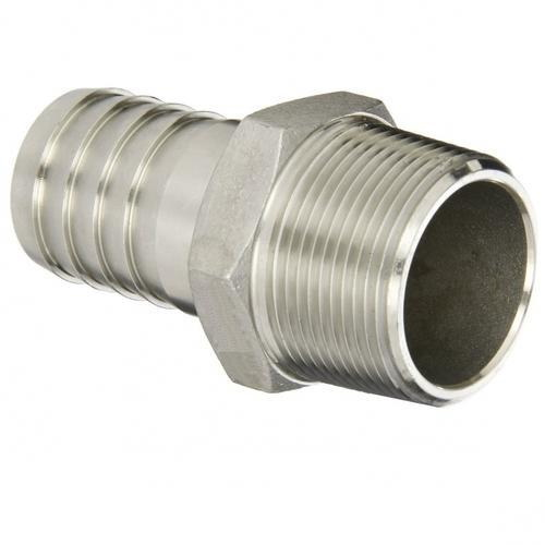 Stainless Steel Nipple Adapter, 3/8 in, Barb x NPT