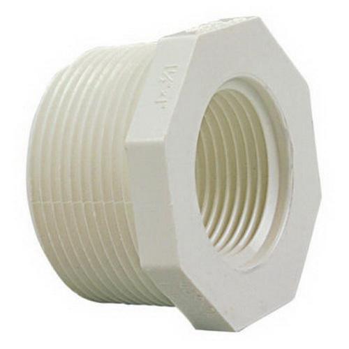 PVC SCH 40 Reducer Bushing, 3/4 in x 1/2 in, MIPT x FIPT