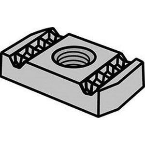 Electro Galvanized Clamping Nut, 1/4-20 UNC, 100/PK