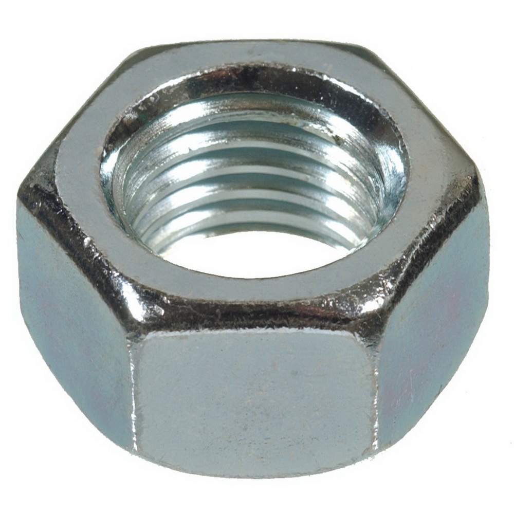 Grade 2 Zinc Plated Steel Hex Nut, 3/8-16 UNC