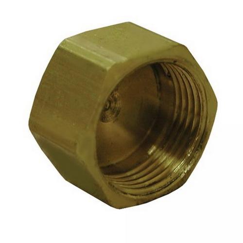 Brass Cap, 3/8 in, Compression