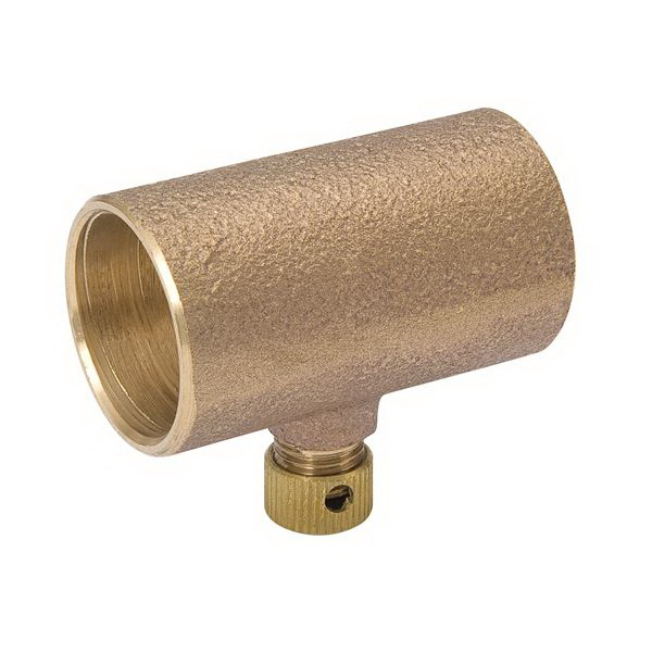 Brass Alloy Cast Drain Coupling, Copper