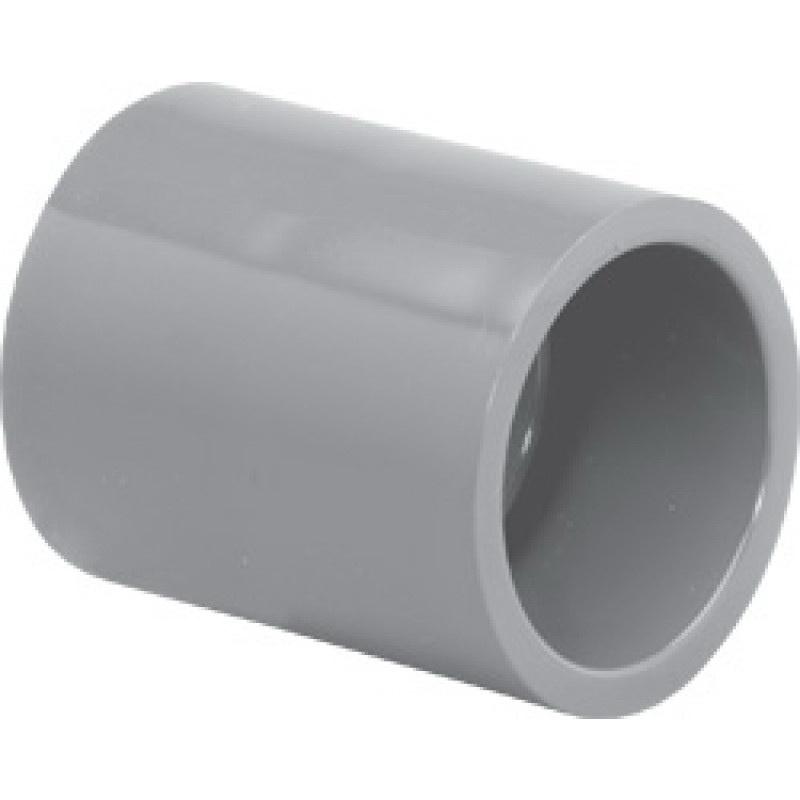 Light Gray CPVC SCH 80 Reducer Coupling, 6 in x 3 in, Slip, Domestic