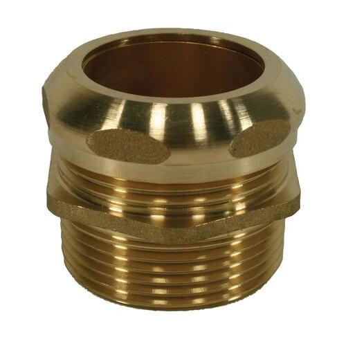 Brass Waste Connector, 1-1/2 in, MIP x Slip