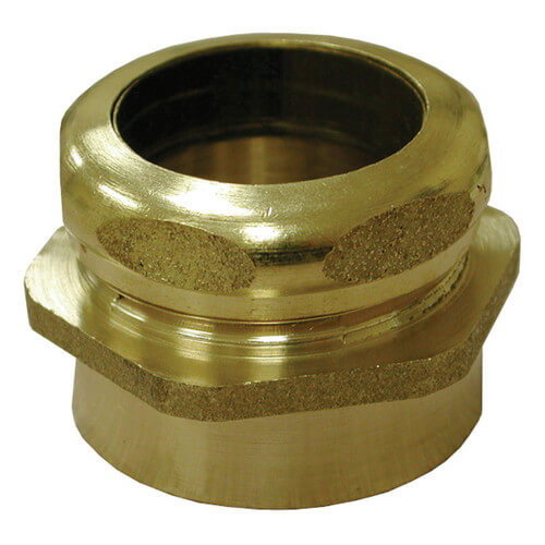 Brass Waste Connector, 1-1/2 in, FIP x Slip