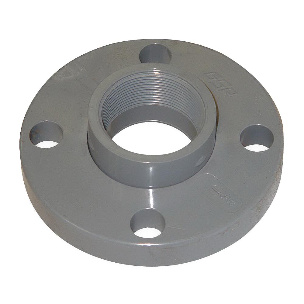 Gray PVC SCH 80 Van Stone Flange, 2 in, FNPT