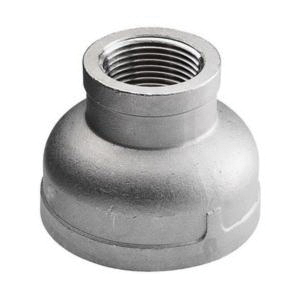 304 Stainless Steel Class 150 Cast Reducing Coupling, 1 in x 3/4 in, FNPT, Import