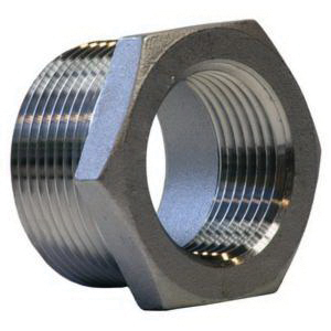 304 Stainless Steel Class 150 Cast Hex Bushing, 1/2 in x 3/8 in, MNPT x FNPT, Import