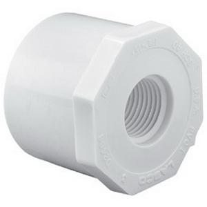 PVC SCH 40 Reducer Bushing, 3/4 in x 1/4 in, Spigot x FNPT