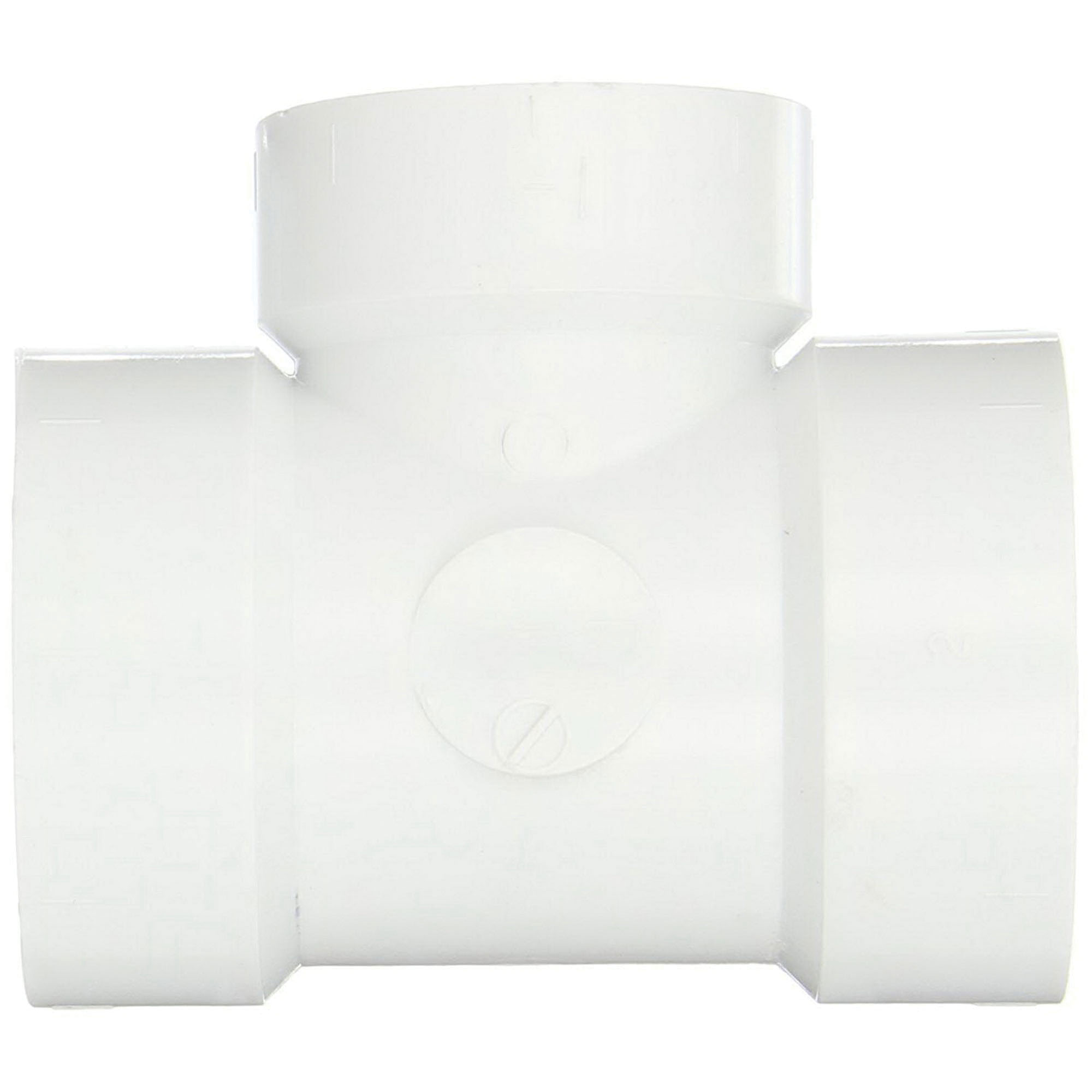 PVC DWV Reducing Vent Tee, 12 in x 12 in x 6 in, Hub