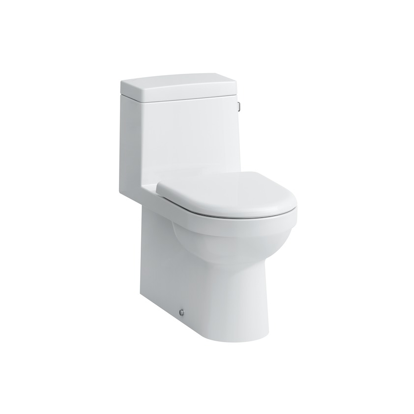 Laufen 825954 White Vitreous China 1-Piece Water Closet, 12 in Rough-In