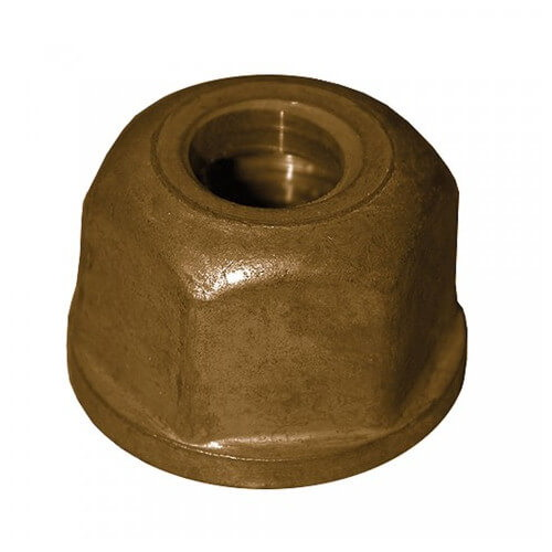 Regular Brass Basin Nut, 1/2-14