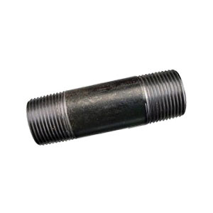 Black Carbon Steel SCH 40 Welded Pipe Nipple, 2 in x 3 in L, MNPT, Domestic