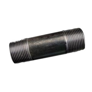 Black Steel STD Welded Nipple, 1-1/2 in x 4-1/2 in, MNPT, Domestic