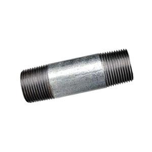 Galvanized Steel SCH 40 Welded Pipe Nipple, 2 in x 6 in L, Threaded, Domestic