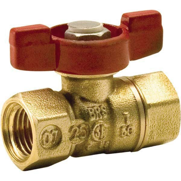 Lead Free Brass 2-Piece Micro Ball Valve, 1/4 in, FNPT, 400 psi