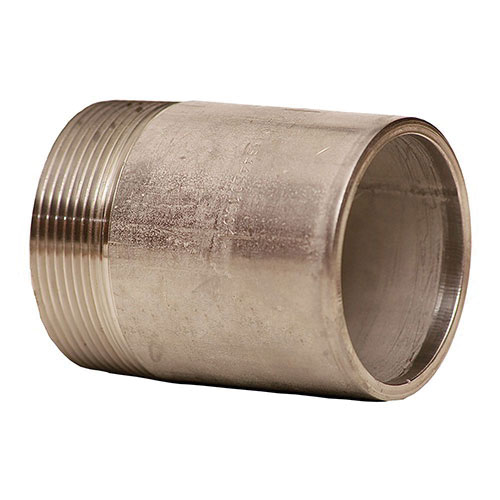 304 Stainless Steel SCH 40 Pipe Nipple, 2 in x 6 in L, MNPT x Square Cut Plain End, Domestic