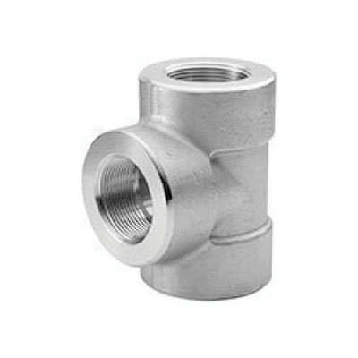 304L Stainless Steel Class 3000 Tee, 3 in, Socket Weld, Import