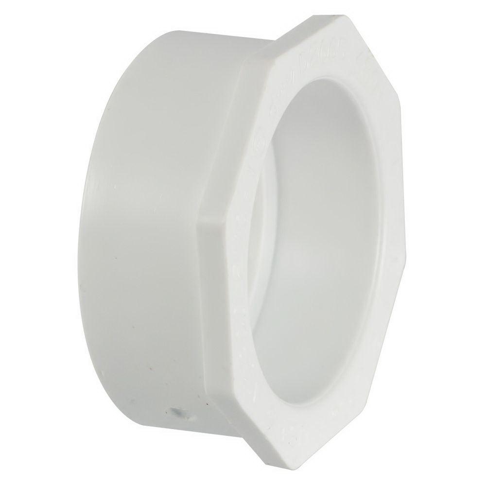 PVC DWV Flush Style Bushing, 10 in x 8 in, Spigot x Hub