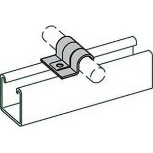 Electro Galvanized Pipe Clamp, 1/2 in