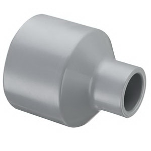 Gray PVC SCH 80 Molded Reducer Coupling, 6 in x 3 in, Socket, Domestic