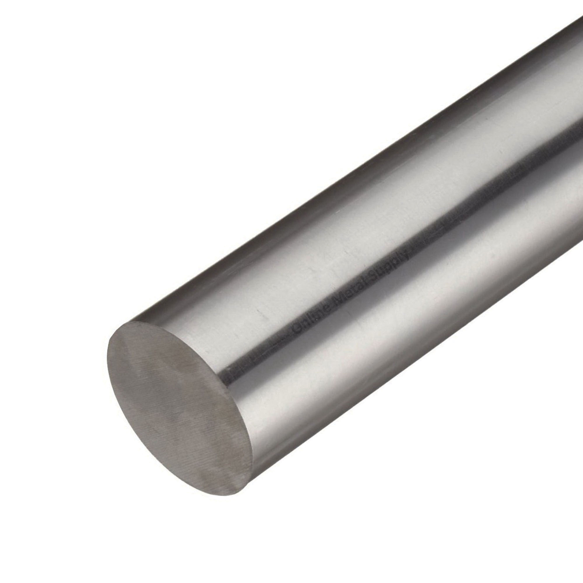 304 Stainless Steel Round Bar, 12 ft L x 1/2 in W