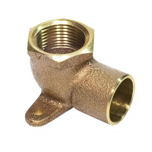 Bronze Cast 90 deg Drop Ear Elbow, 3/4 in, Copper x FNPT