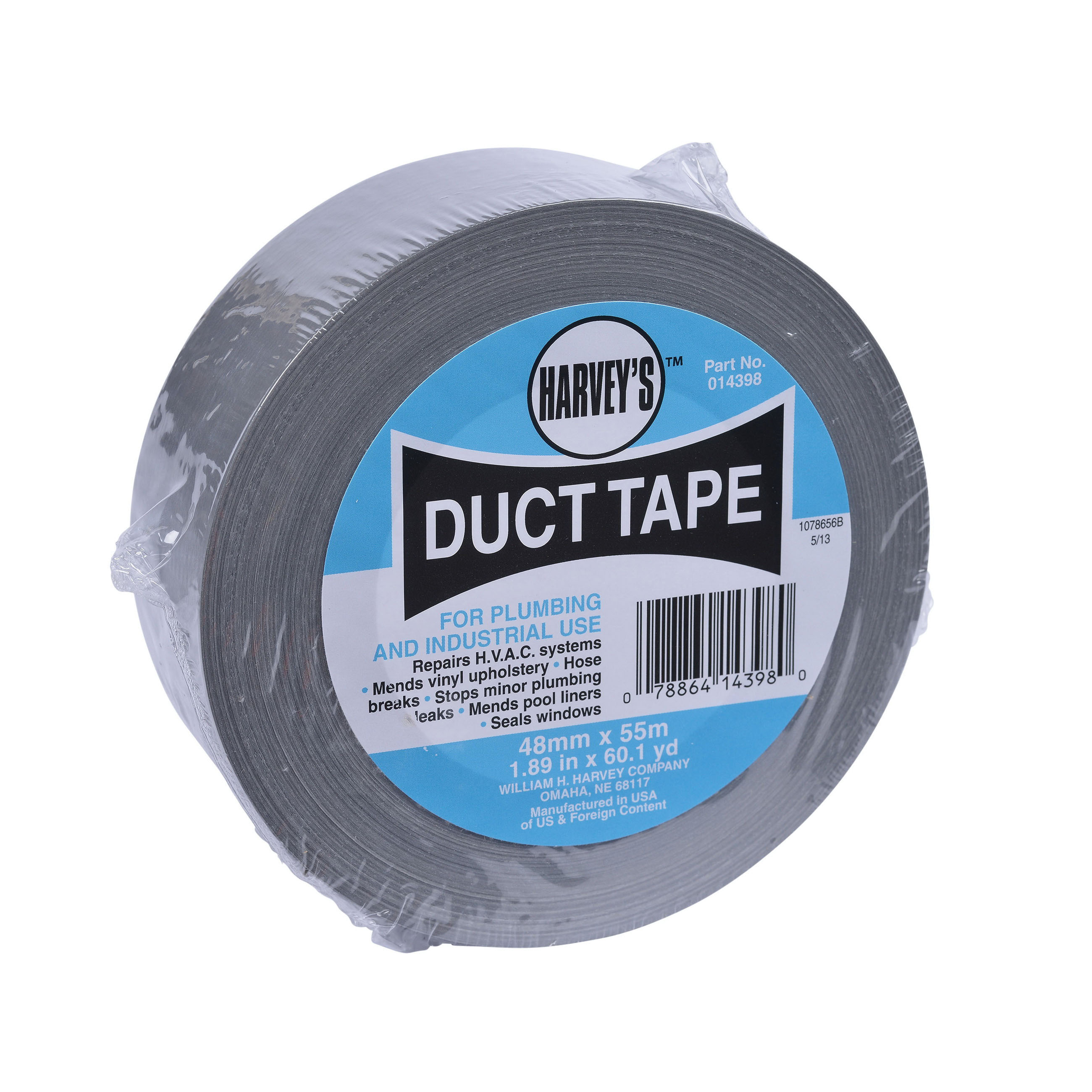 Polycloth Duct Tape, 2 in x 180 ft, Silver
