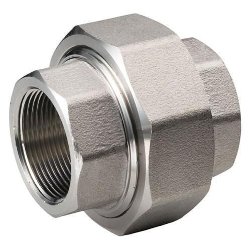 304L Stainless Steel Class 3000 Union, 1 in, Threaded, Domestic