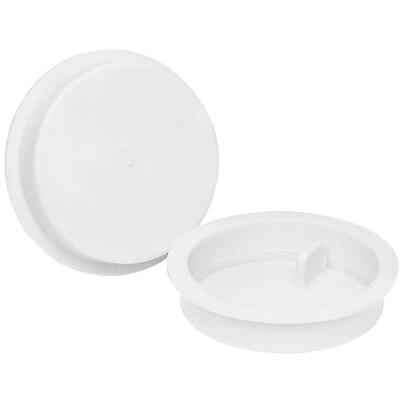 White PVC DWV Insert Test Cap