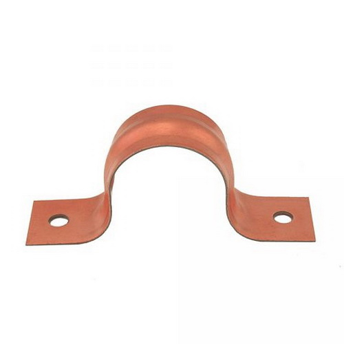 Solid Copper Steel CTS Pipe Strap, 1/4 in