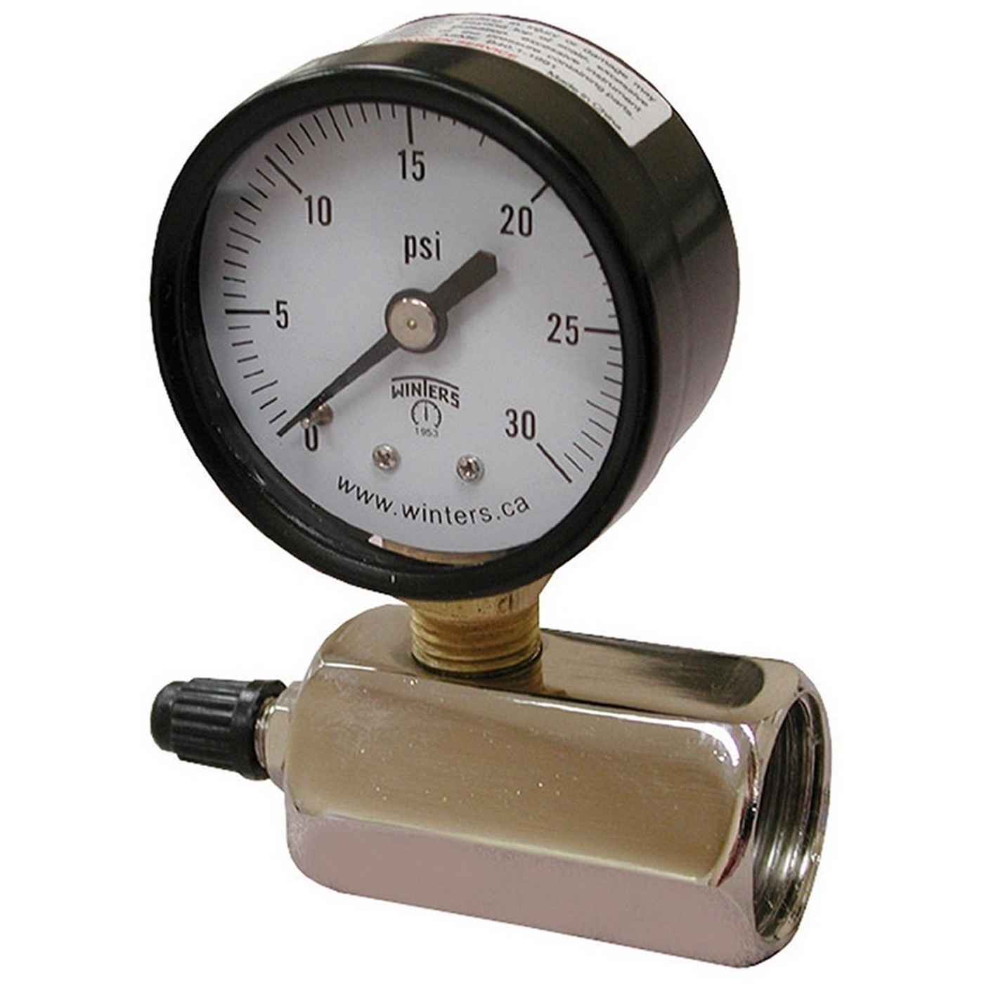 Steel Gas Test Gauge Assembly, 0 - 160 psi, 2 in Dial, 3/4 in FIP