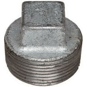 Galvanized Malleable Iron Class 150 Square Head Plug, Import