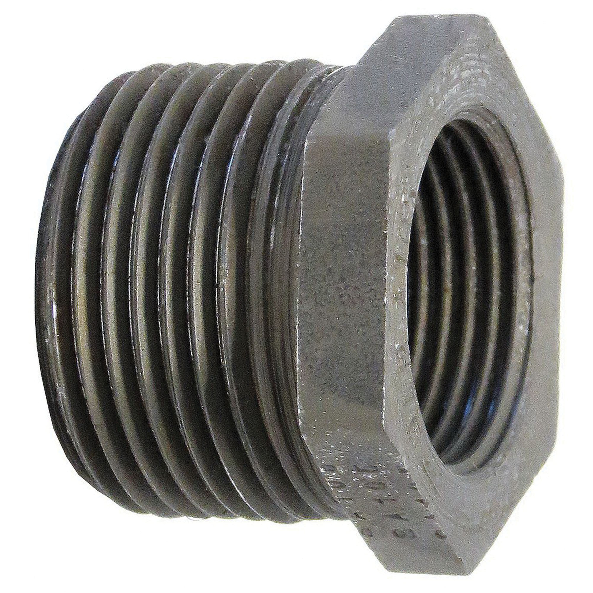 Steel Class 3000 Forged High Pressure Hex Bushing, 2 in x 1 in, MNPT x FNPT, Domestic, 12/CT