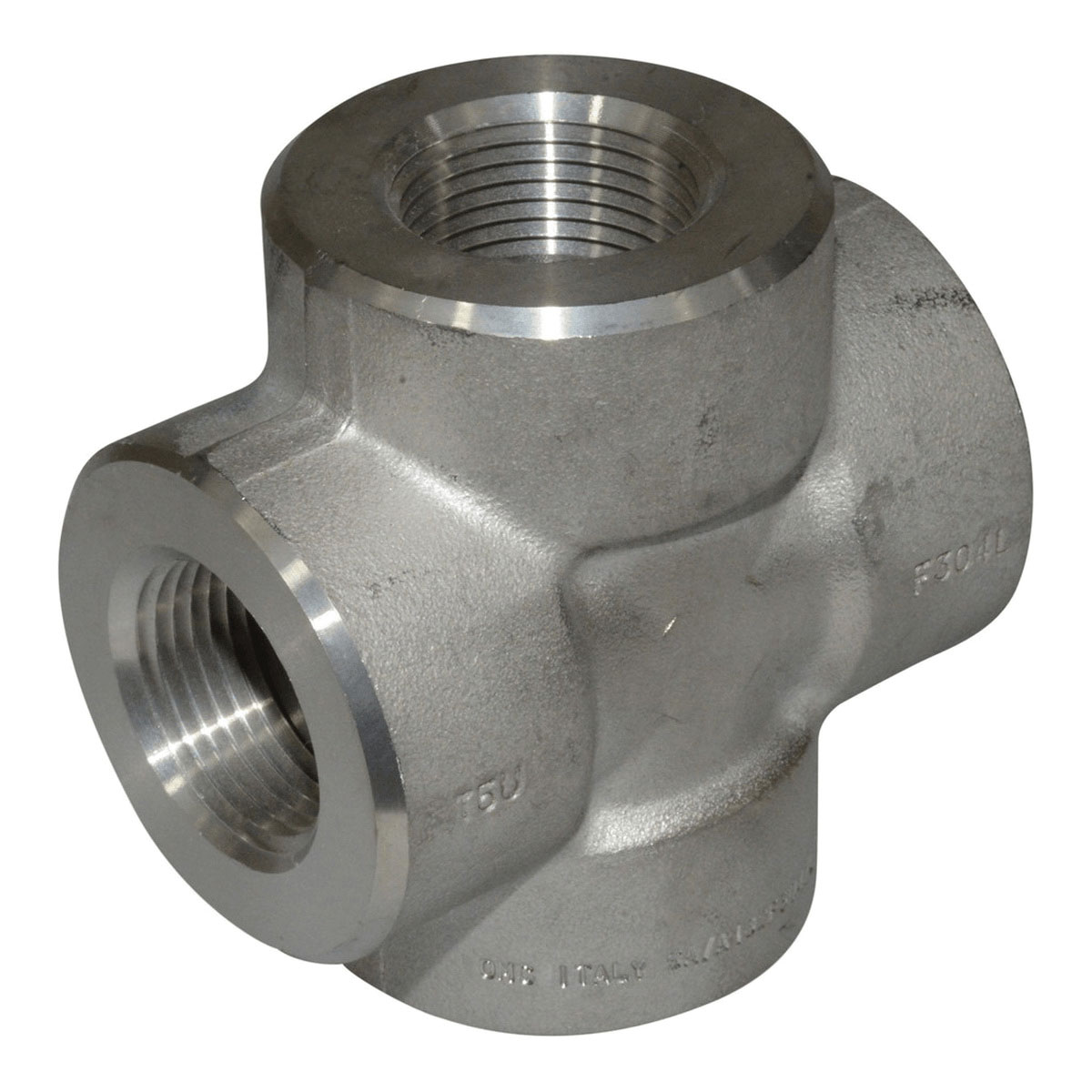 Steel Class 3000 Forged Cross, 1 in, Threaded, Import