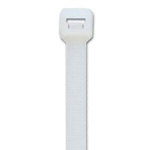 ACT AL-08-120-9-C Natural Nylon Cable Tie, 8.7 in L x 0.3 in W x 0.07 in T, 120 lb, 100/BG