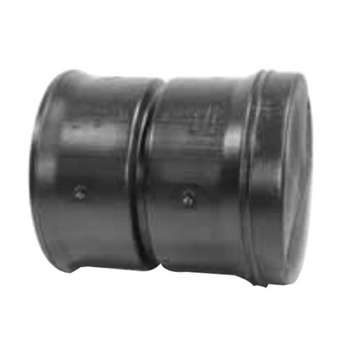 ADS® 0667AA Black PVC Dual Wall End Cap, 6 in, Snap