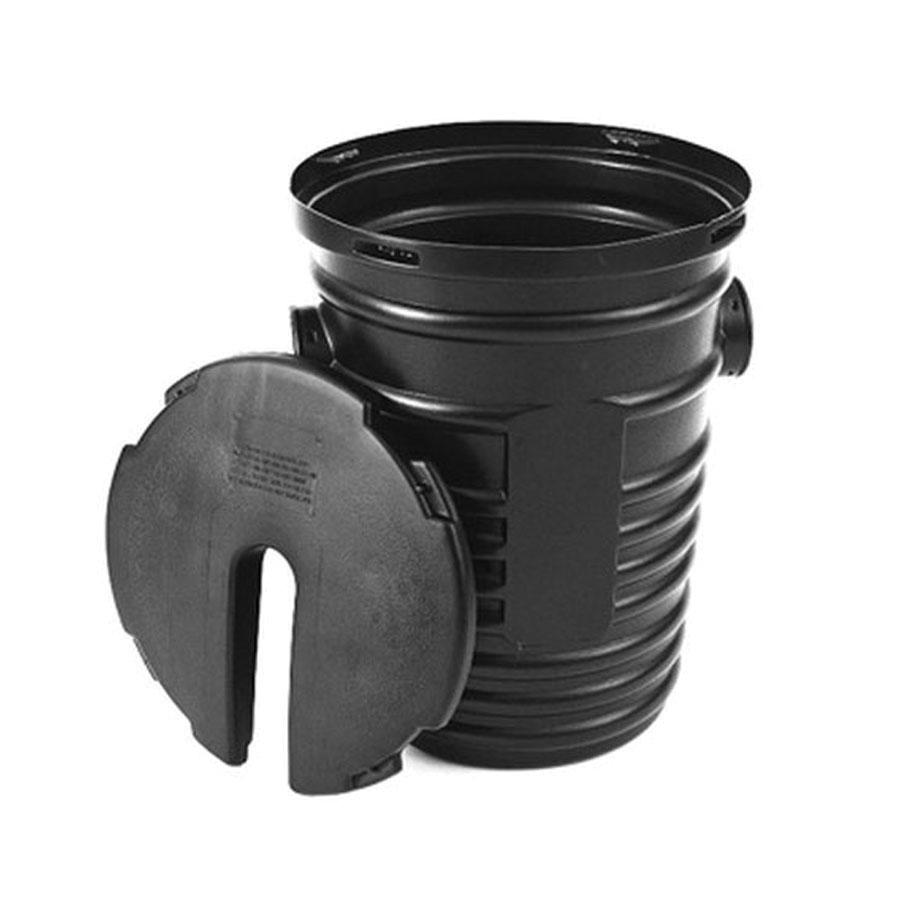 ADS® 1524ADL Black Polyethylene Corrugated Locking Sump Well Liner