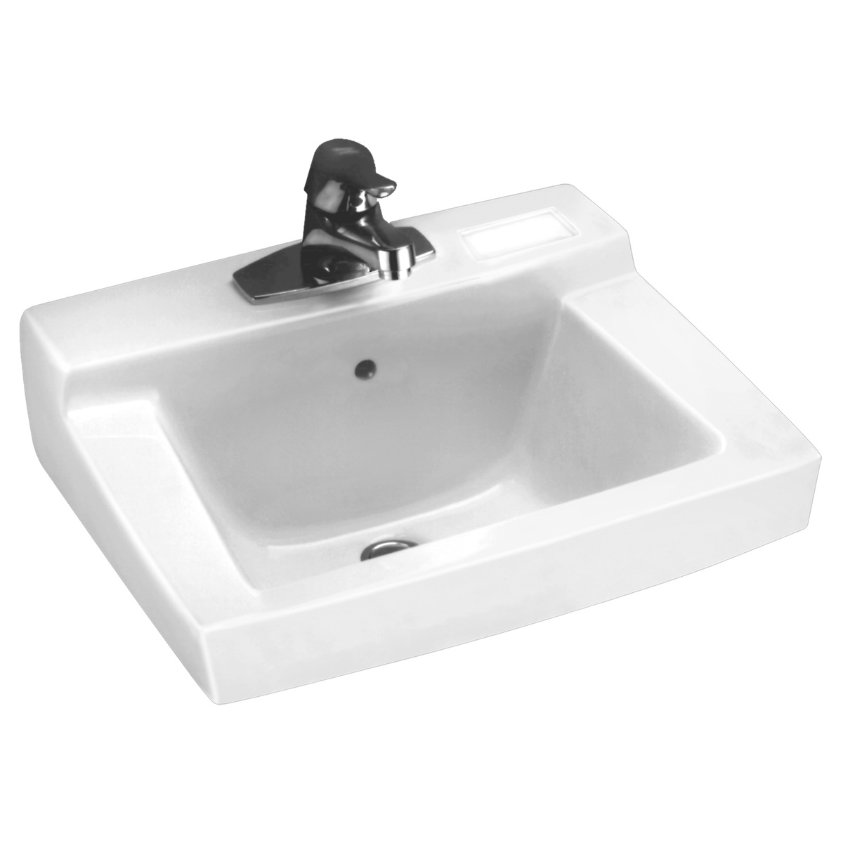 American Standard Declyn™ 0321.075.020 White Vitreous China Wall Mount Lavatory Sink, 1-Bowl, 3-Faucet Holes