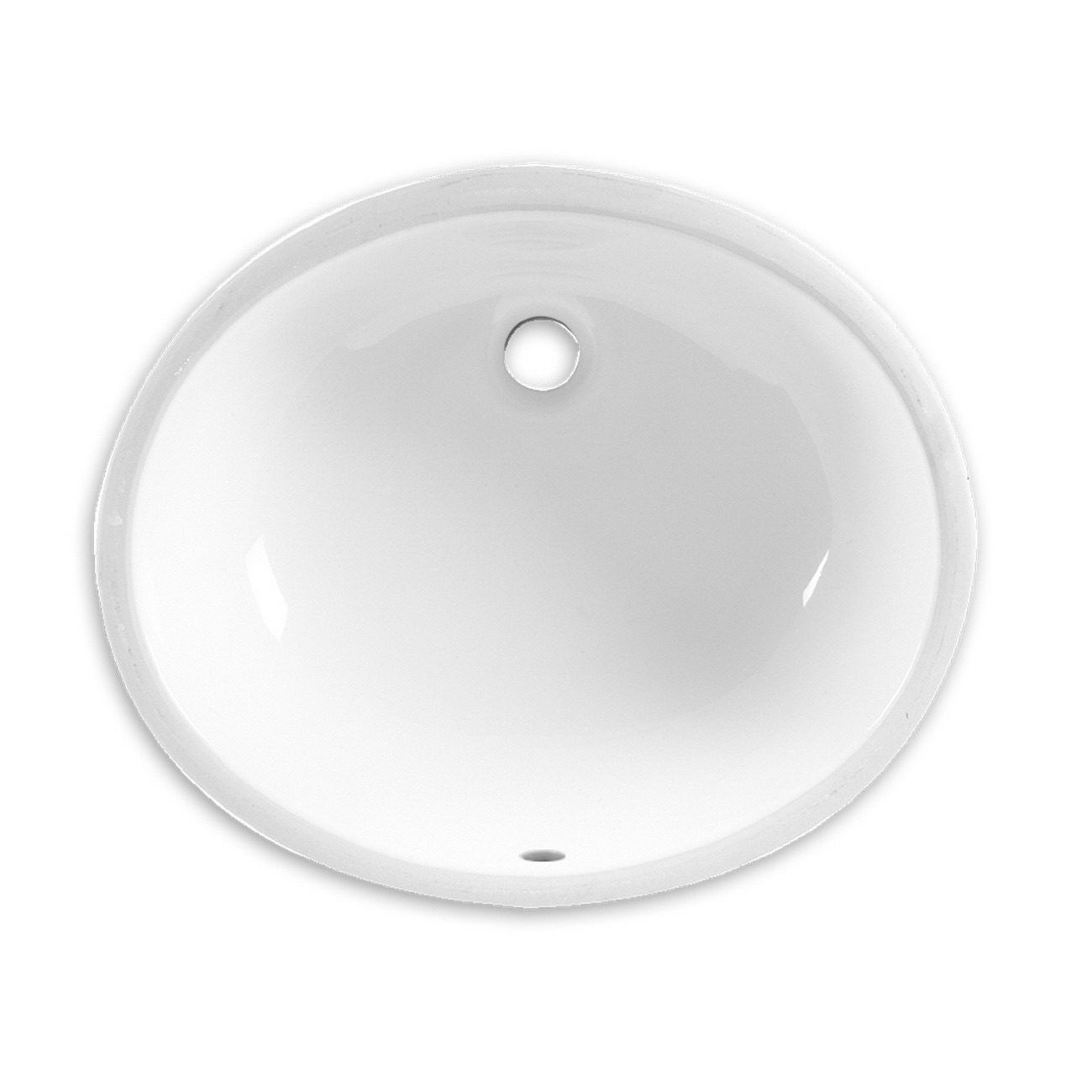 American Standard Ovalyn™ 0495.221.020 White Vitreous China Under Mount Undercounter Sink, 1-Bowl