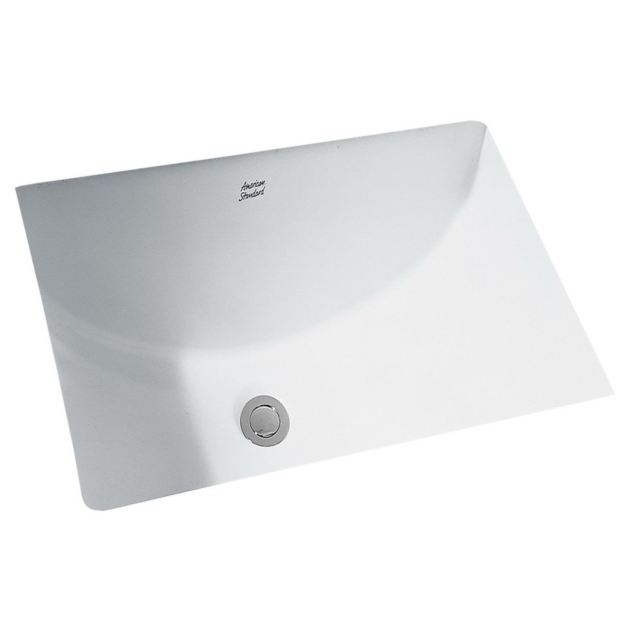 American Standard Studio™ 0614.000.020 White Vitreous China Under Mount Undercounter Sink, 1-Bowl