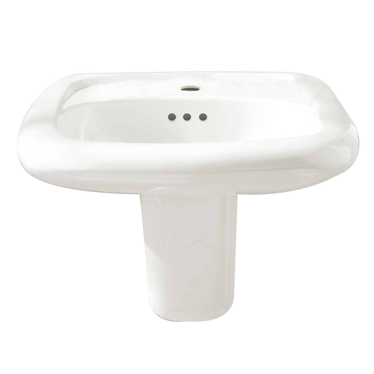 American Standard Murro™ Everclean® 0954.004EC.020 White Vitreous China Wall Mount Lavatory Sink, 1-Bowl, 3-Faucet Holes
