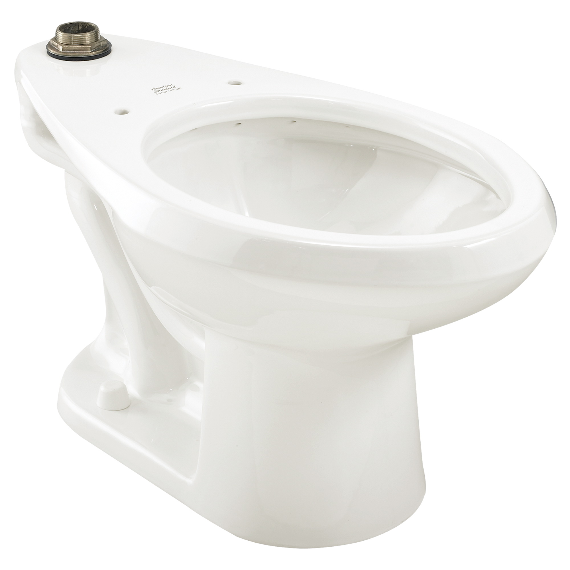 American Standard Madera™ FloWise® 2234.001.020 White Vitreous China Elongated Top Spud Toilet Bowl, 12 in Rough-In, 1.1 - 1.6 gpf