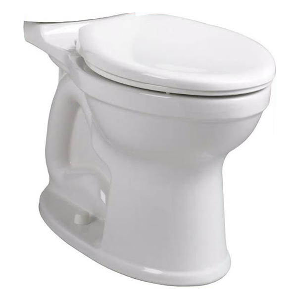American Standard Champion® Pro™ Right Height™ 3195A.101.020 White Vitreous China Elongated Toilet Bowl, 12 in Rough-In, 1.28 gpf